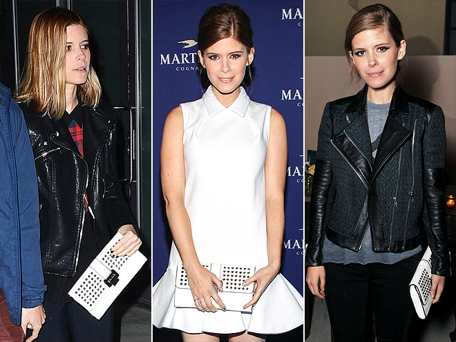 REBECCA MINKOFF CLUTCH   photo | Kate Mara