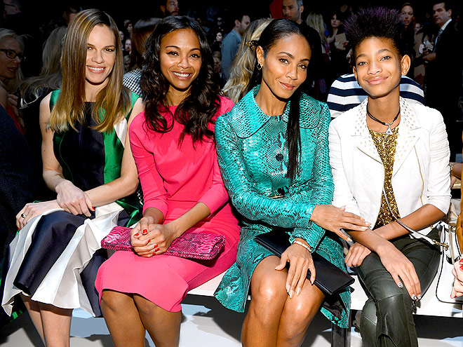 MICHAEL KORS FRONT ROW photo | Hilary Swank, Jada Pinkett Smith, Willow Smith, Zoe Saldana