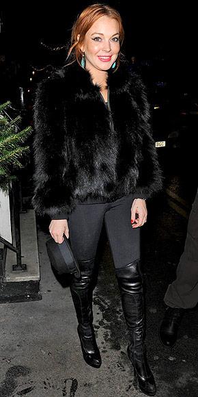 THIGH-HIGH LEATHER BOOTS photo | Lindsay Lohan