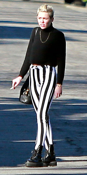STRIPED PANTS photo | Miley Cyrus