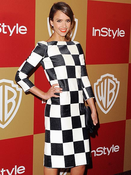 CHECKERED PRINT photo | Jessica Alba