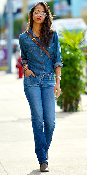 DENIM SQUARED photo | Zoe Saldana