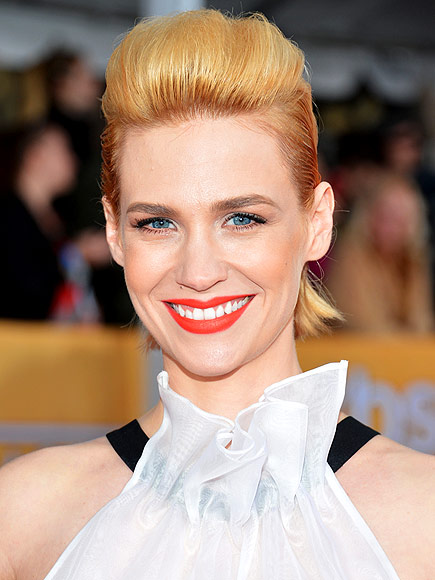 SKY-HIGH POMPADOURS photo | January Jones