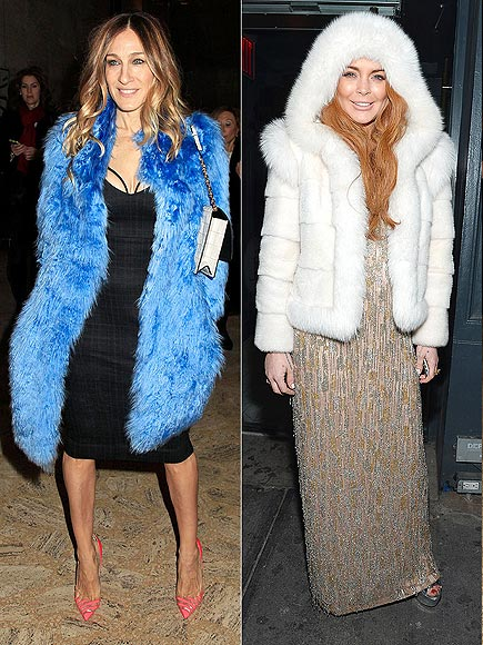 FORMAL FUR photo | Lindsay Lohan, Sarah Jessica Parker