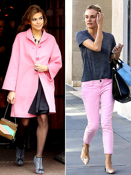 COTTON-CANDY PINK photo | Diane Kruger, Eva Mendes