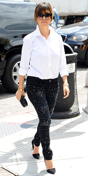 ALLOVER STUDDED PANTS photo | Kourtney Kardashian