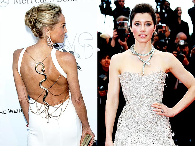SNAKES ON A RED CARPET photo | Jessica Biel, Sharon Stone