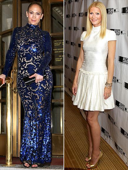 FORMAL MOCK TURTLENECKS  photo | Gwyneth Paltrow, Jennifer Lopez