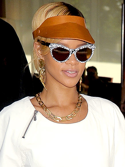 LEATHER VISORS photo | Rihanna