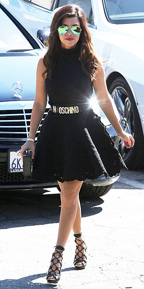 LABEL BELTS photo | Kourtney Kardashian