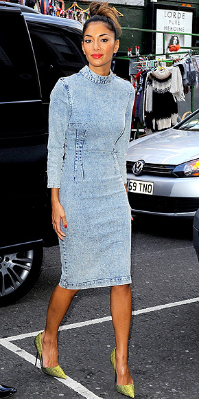 STONEWASHED DENIM DRESSES photo | Nicole Scherzinger