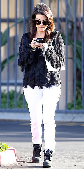 ALLOVER FRINGE TOPS photo | Kourtney Kardashian