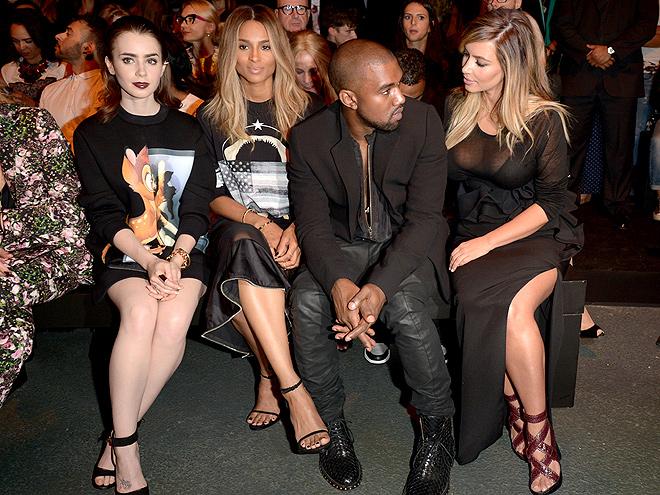 LILY, CIARA, KANYE & KIM photo | Ciara, Kanye West, Kim Kardashian, Lily Collins