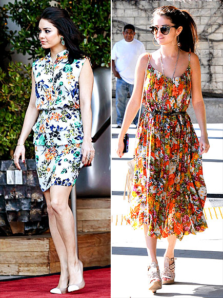 FLORAL DRESSES photo | Selena Gomez, Vanessa Hudgens