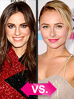 Beauty Debate: Nude Gloss vs. Hot Pink Lips | Allison Williams, Hayden Panettiere