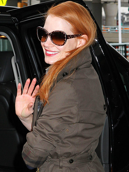 JESSICA CHASTAIN'S SUNGLASSES photo | Jessica Chastain