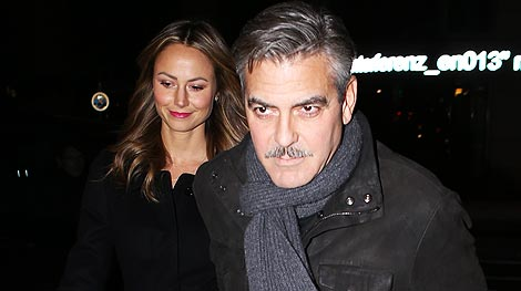 George Clooney and Stacy Keibler Reunite in Berlin