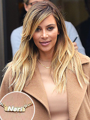 Kanye West Wears Necklace with Daughter Nori's Name| Kanye West, Kim Kardashian