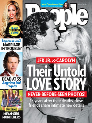 photo | Couples, True Crime, American Idol, Carolyn Bessette Cover, John F. Kennedy Jr. Cover, Beyonce Knowles, Carolyn Bessette, Jay-Z, John F. Kennedy Jr., Michael Johns