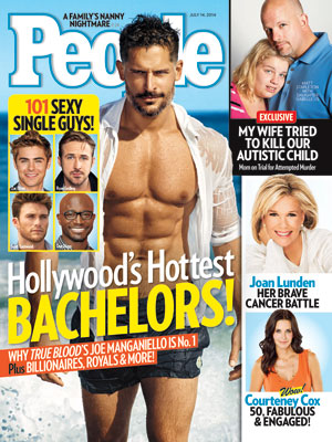 photo | Hottest Bachelors on Covers, Hottest Bachelors, Real People Stories, Courteney Cox, Joan Lunden, Joe Manganiello, Ryan Gosling, Scott Eastwood, Taye Diggs, Zac Efron