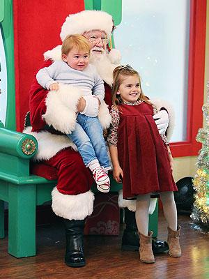 Alessandra Ambrosio Anja Mazur Santa Claus Amberley London Dress