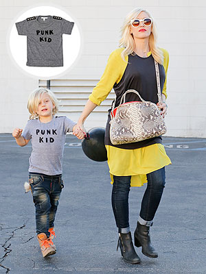 Gwen Stefani Pregnant Zuma Rossdale Jagged Culture Punk Kid T-Shirt