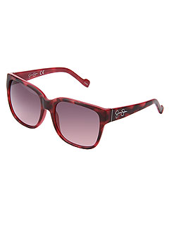 Jessica Simpson Pink Animal Print Sunglasses
