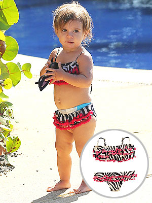 Kourtney Kardashian Daughter Penelope Bikini