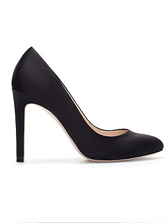 Zara Silk Satin High Heels Black