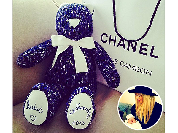 Rachel Zoe Instagram Kaius Chanel Teddy Bear