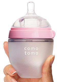 Comotomo Silicone Baby Bottle Pink