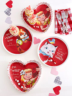 Pottery Barn Kids Valentine's Day Plates