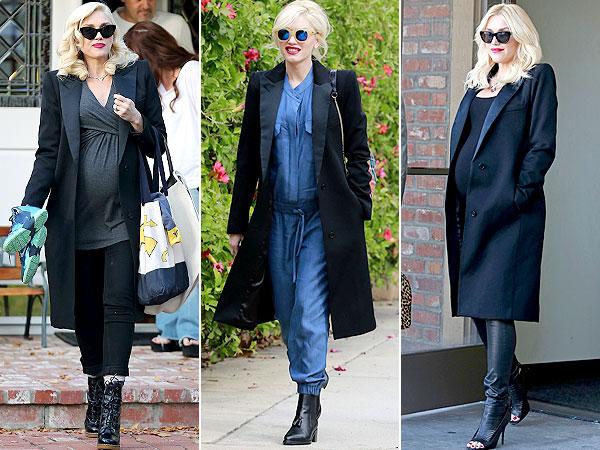 Gwen Stefani Pregnant Smythe Peaked Lapel Coat