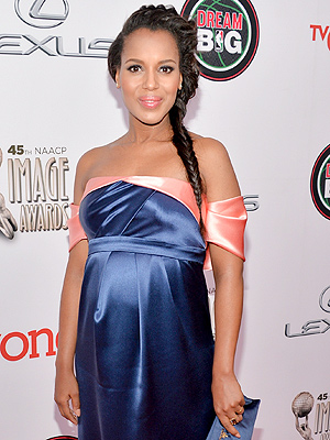 Kerry Washington Pregnant 45th Annual NAACP Image Awards