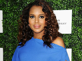 Kerry Washington Bumps It Up in Blue at Essence Luncheon