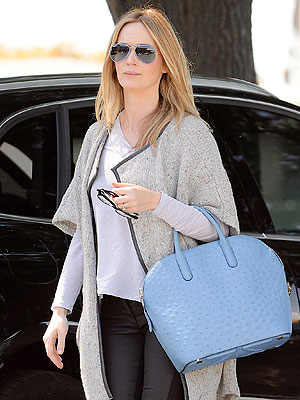Emily Blunt Post Baby Appearance Six Weeks Daughter Hazel