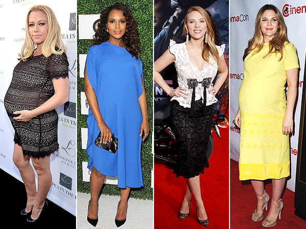 Kendra Wilkinson, Scarlett Johansson, Kerry Washington and Drew Barrymore: Pregnant Style