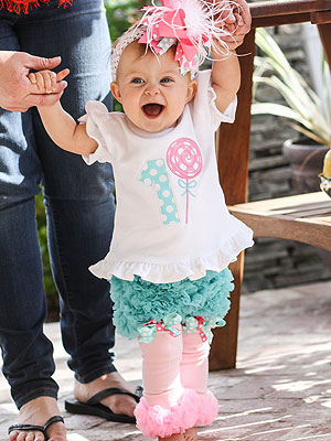Beverley Mitchell Celebrates Daughter Kenzies 1st Birthday with Sweet Soiree