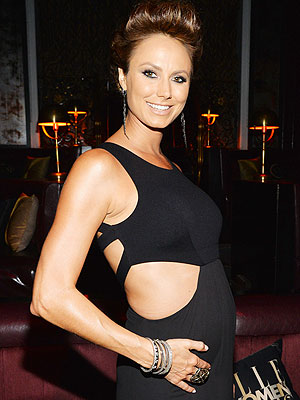 Stacy Keibler Pregnant Elle Women in Music