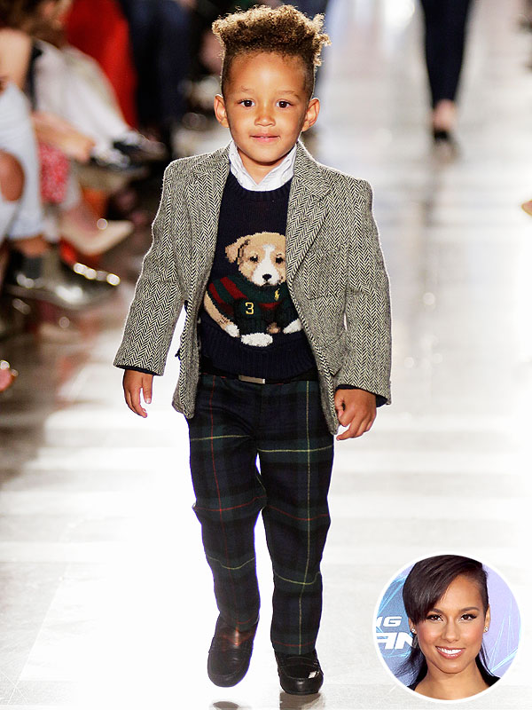 Alicia Keys Son Egypt Ralph Lauren Children's Fashion Show