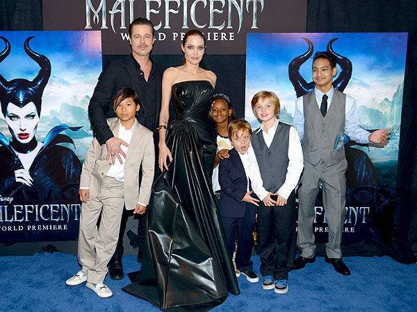 Angelina Jolie Brad Pitt Maleficent Premiere Family Photo