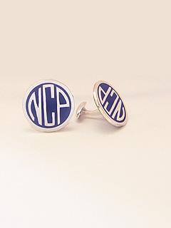 Auburn Monogrammed Cufflinks
