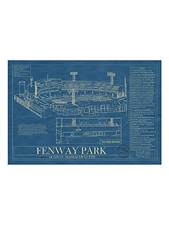 Fenway Park Blueprint Uncommon Goods