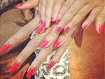 Beyoncé and Blue Ivy Sport Matching Red Nails
