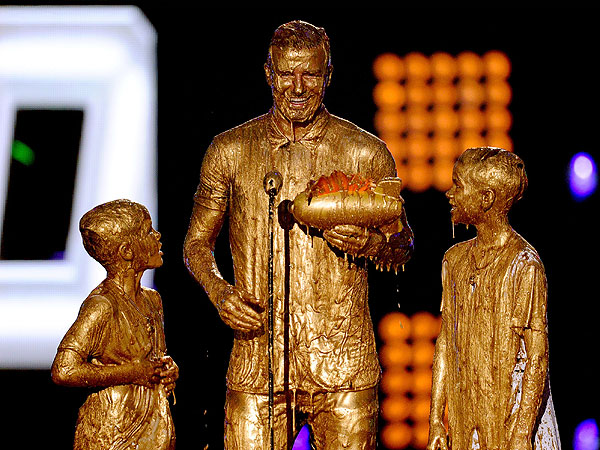 David Beckham Kids Choice Awards Slimed