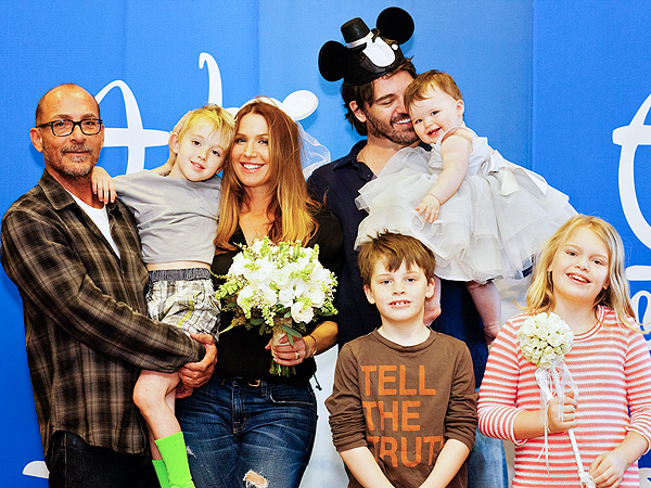 Poppy Montgomery Wedding Photo