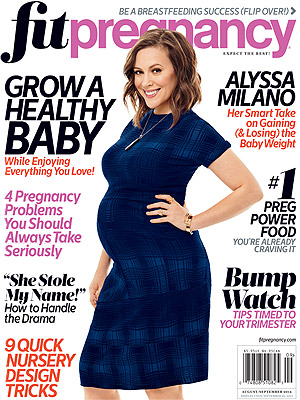 Alyssa Milano Fit Pregnancy Cover