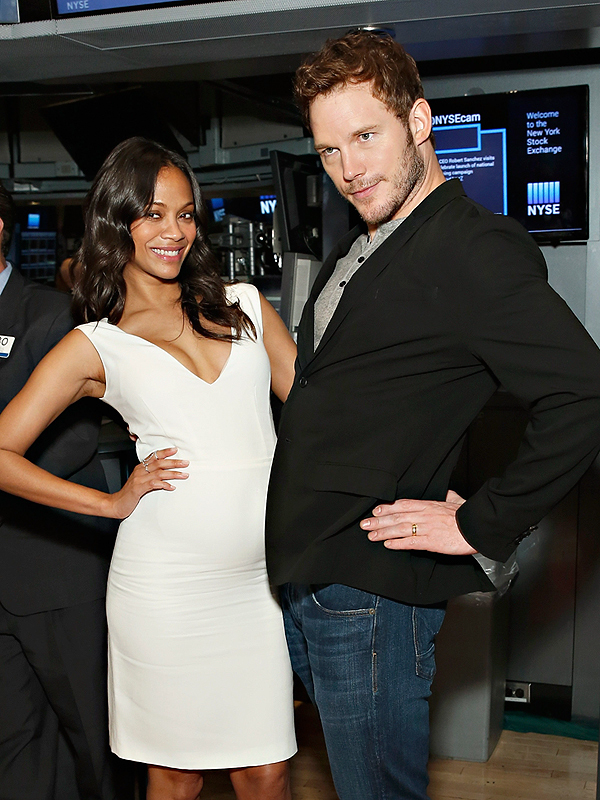 Zoe Saldana Pregnant Chris Pratt Guardians of the Galaxy