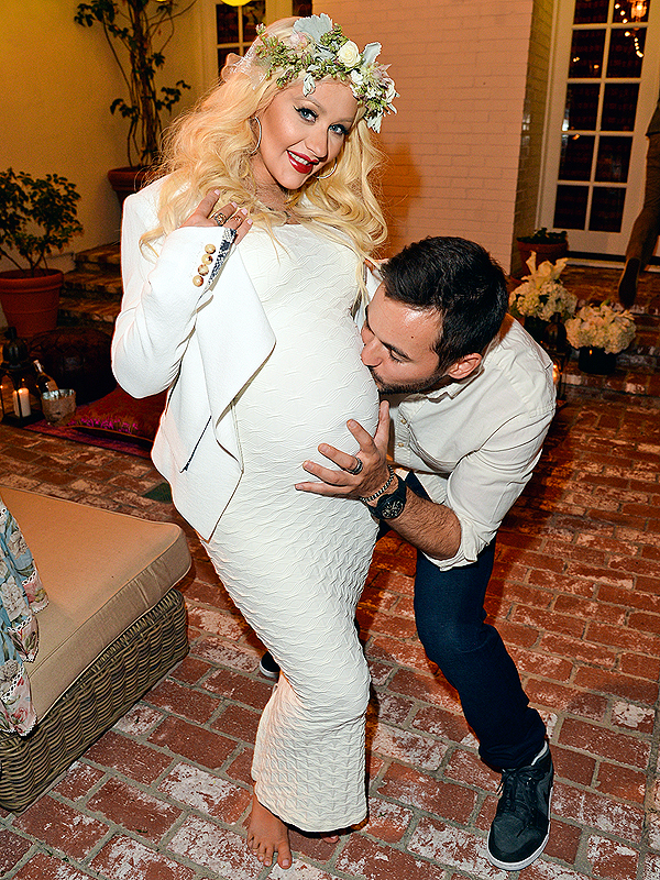 Christina Aguilera Pregnant Baby Shower