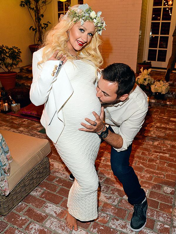 Christina Aguilera Pregnant Baby Shower
